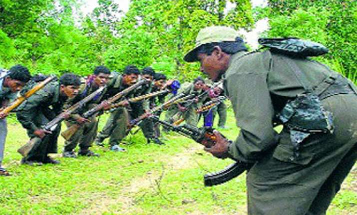 naxal camp raided one naxal held