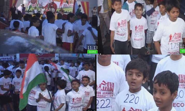 nearly 500 run against corruption on r day in ahmedabad