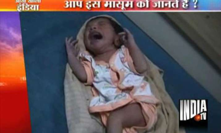 newborn baby girl abandoned at noida bus stop