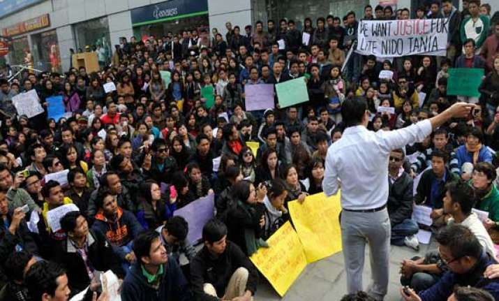 nido tania murder north east students body demands