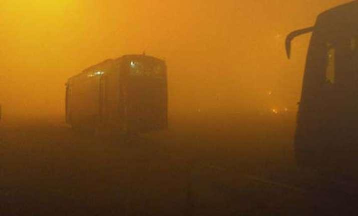 nightlong diwali crackers create huge smog over delhi