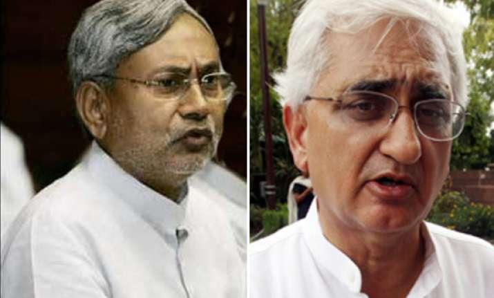 nitish demands action on salman khurshid issue