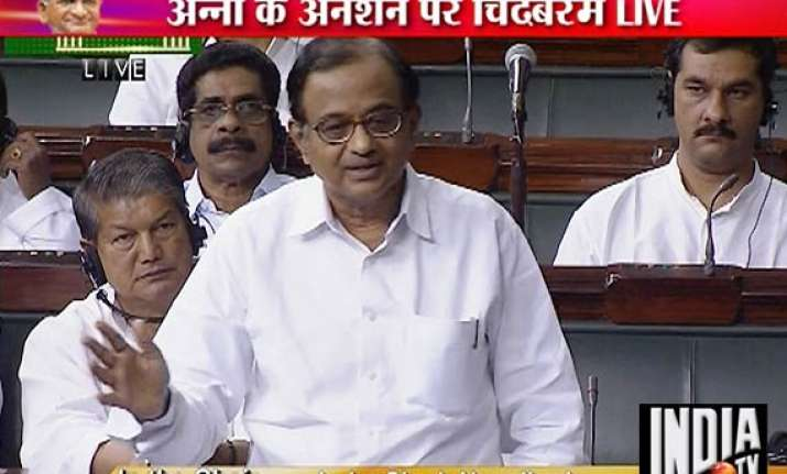 no wrongdoing in anna s arrest chidambaram