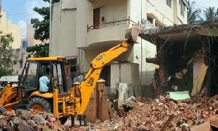noida authority carries out demolition drive in haibatpur
