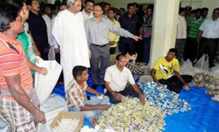odisha announces food packages for cyclone hit families