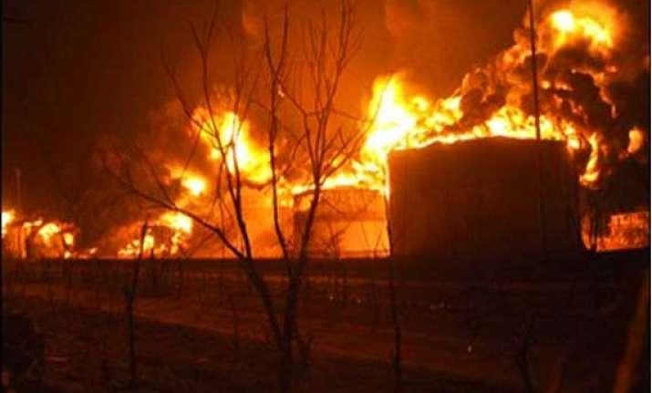 oil factory gutted in major fire