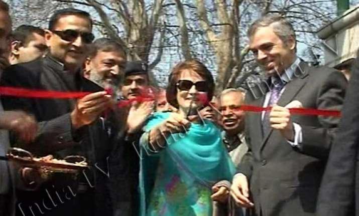 omar opens asia s biggest tulip garden in srinagar