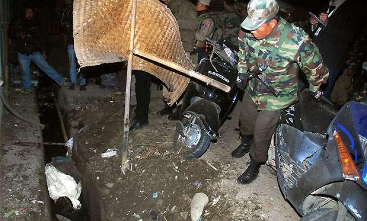 one killed in blast outside manipur speaker s residence
