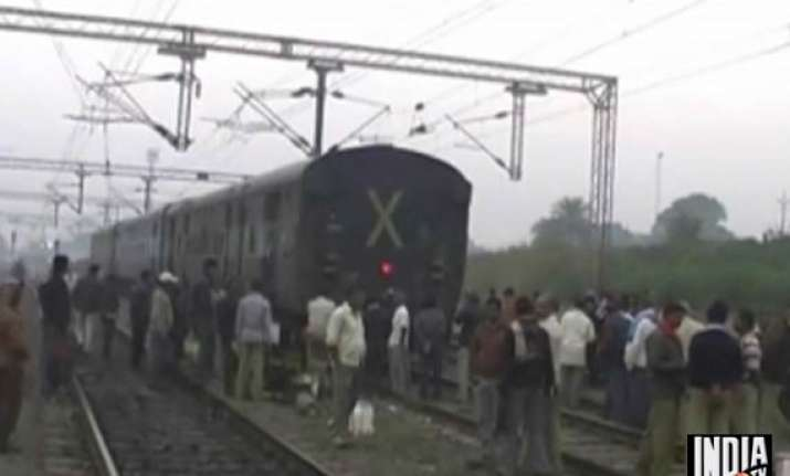 one killed 9 injured as goods train collides with