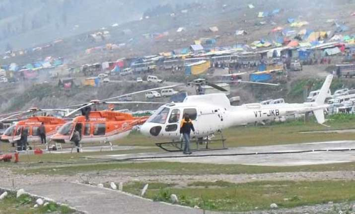 online booking of helicopters for amarnath to start from