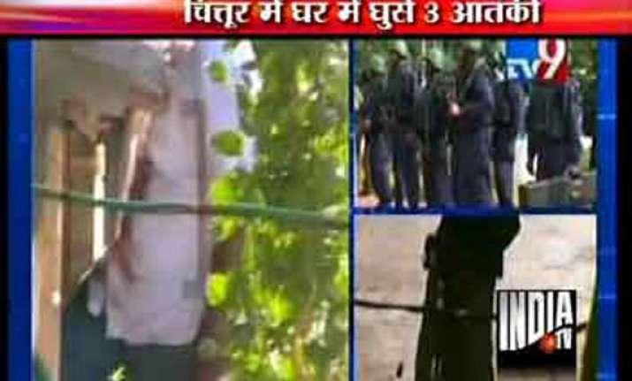 one policeman killed two terrorists nabbed in gunbattle
