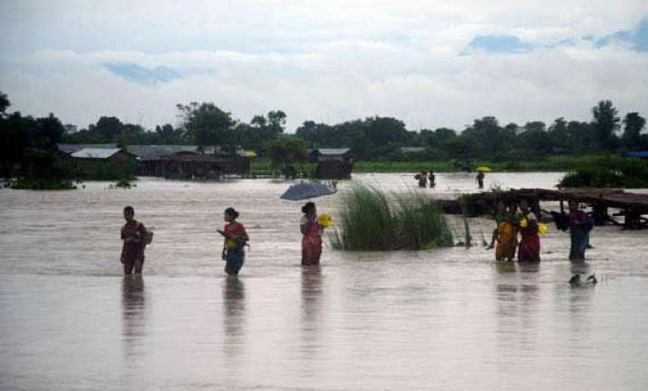 assam flood situation grave