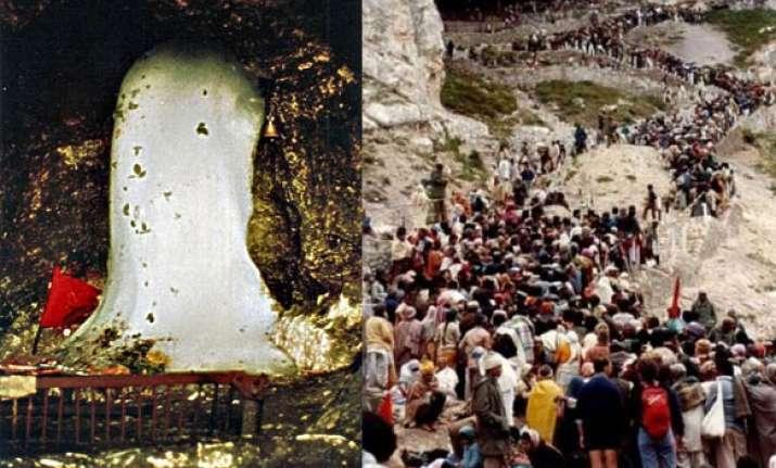 over 2.13 lakh pilgrims for amarnath yatra