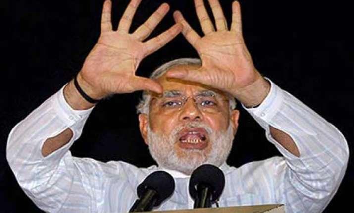 pm narendra modi talks of converting scam india image to