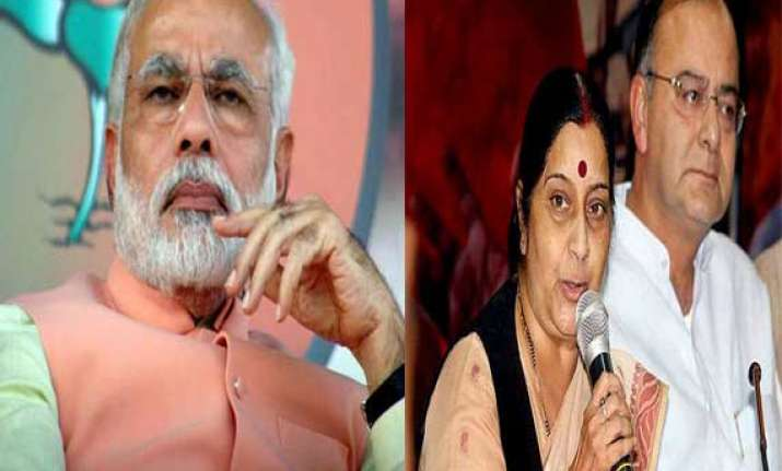 pm holds meet with sushma jaitley ahead of kerry visit