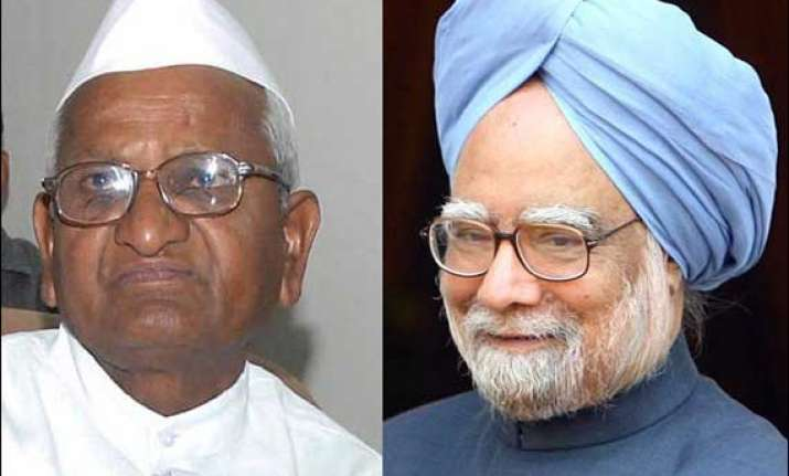pm is a good man says hazare