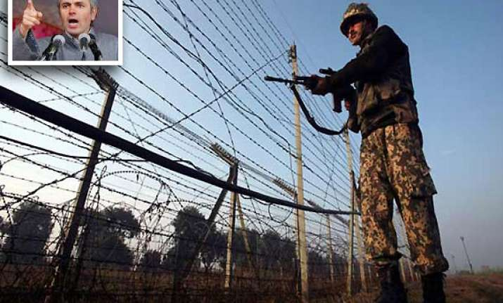 pak shells 10 border outposts in kashmir omar calls for