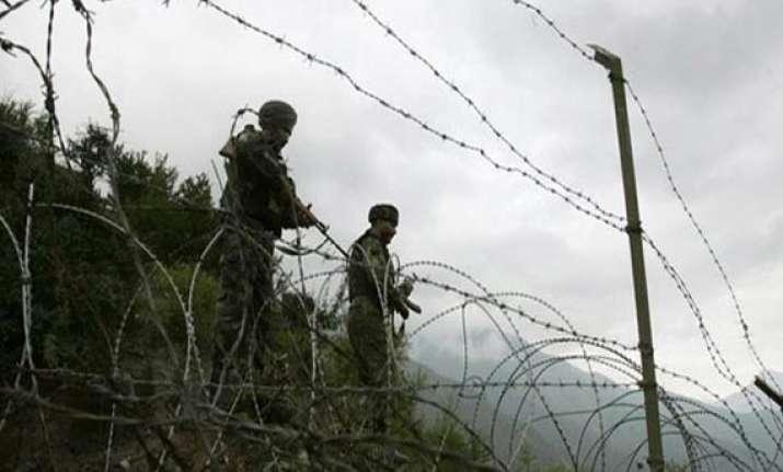 pak troops fire twice near loc on poonch kathua one bsf