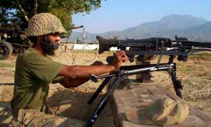 pak troops fire at indian outposts near loc