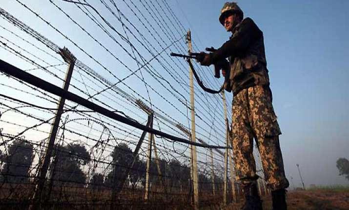 pakistan violates ceasefire again bsf jawan injured in