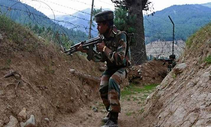 pakistani rangers fire at indian post