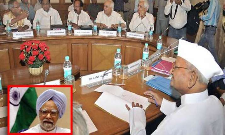 panel on lokpal leaves pm issue to good sense of parliament