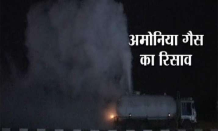 panic in surat after ammonia gas leak from tanker