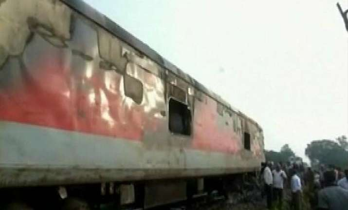 pantry car on rajdhani express catches fire in assam