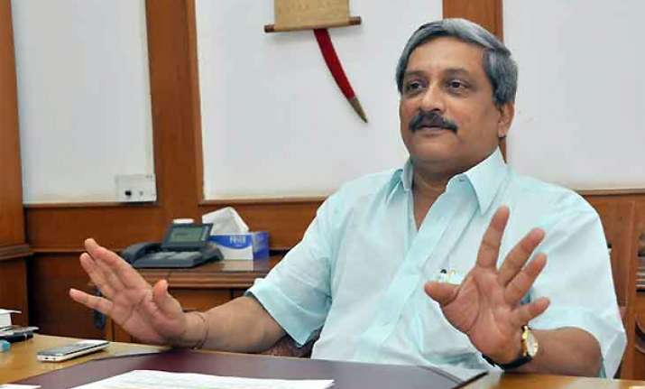 parrikar to take oath as goa chief minister today