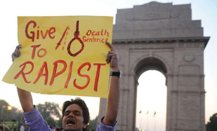 peaceful protests against death of gang rape victim