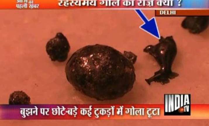 piece of burnt meteorite falls on east delhi housetop