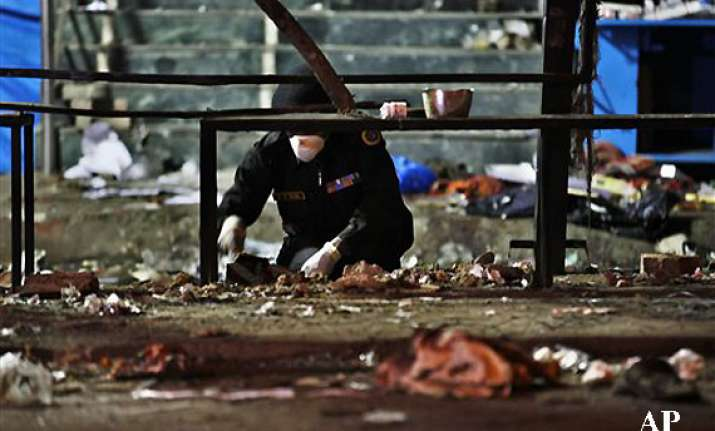 pieces of human flesh blood on hyderabad blast sites