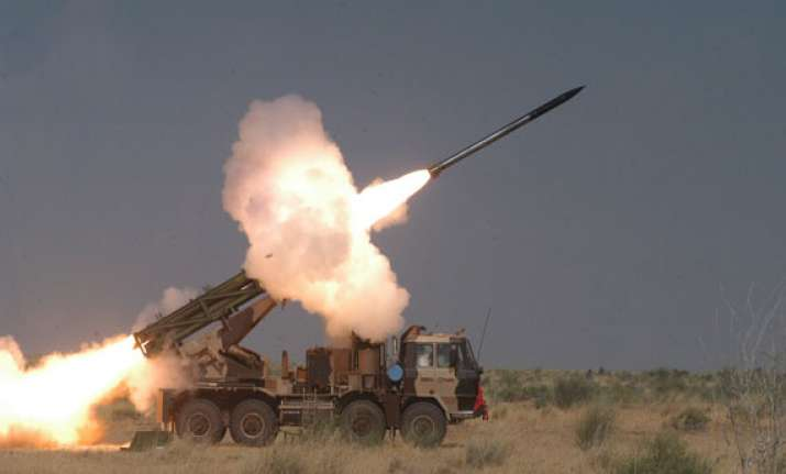 pinaka rockets successfully test fired today