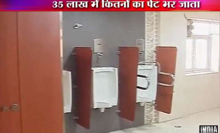 planning commission spent rs 35 lakhs on hi tech toilets