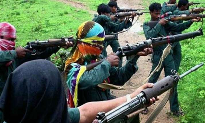 police removes black flag hoisted by maoists at village