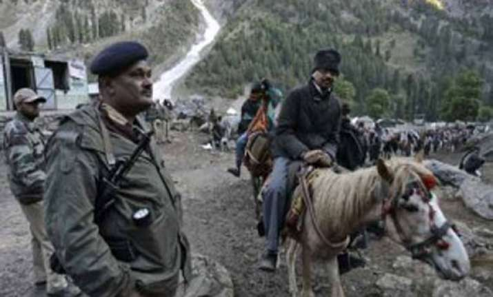 police trainees protest deployment at amarnath yatra