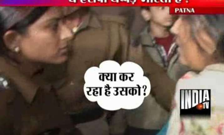 policing patna style female sp city slaps woman woman slaps