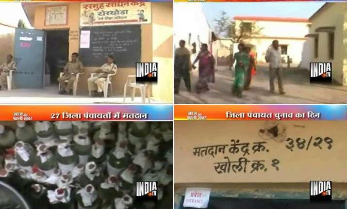 polling continues in nagpur thane 27 dist panchayats