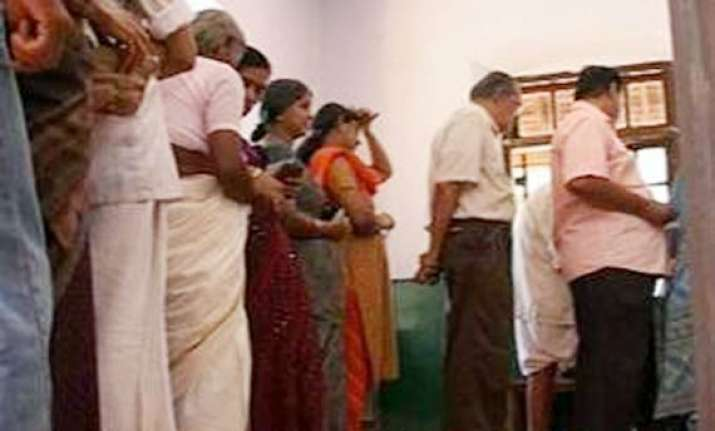 polling official applied indelible ink on amputated limb in