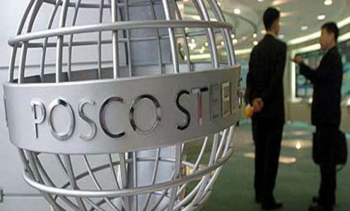 posco land acquisition stalled after protesters clash with