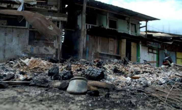 powerful bomb explosion at official s house in manipur