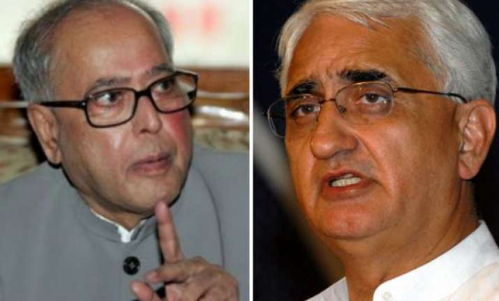 pranab disapproves of khurshid says pm seized of the matter