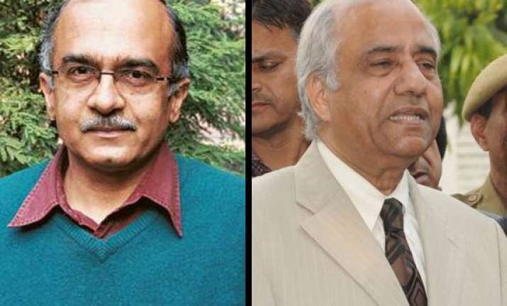 prashant bhushan alleges justice srikrishna gave negative