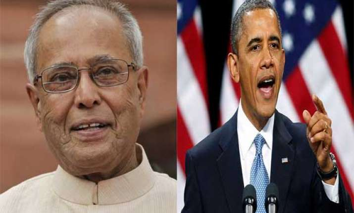 president pranab mukherjee greets obama on us independence