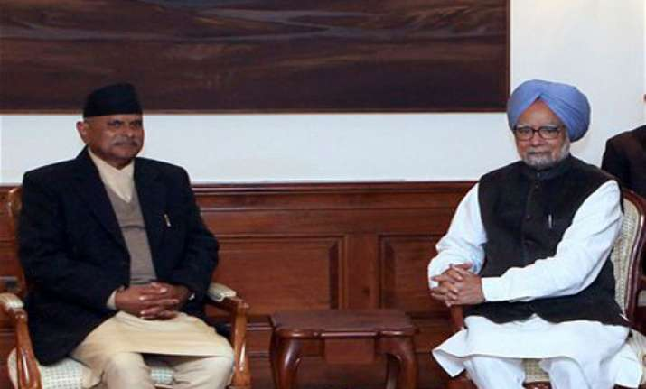 president of nepal meets indian prime minister in the