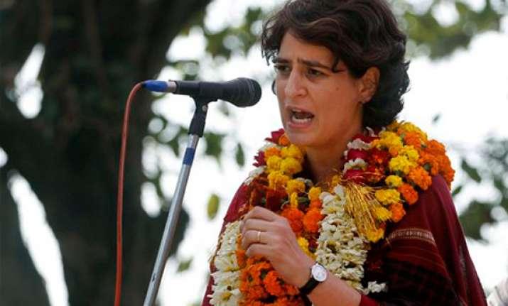 priyanka asks voters to change negative politics of up