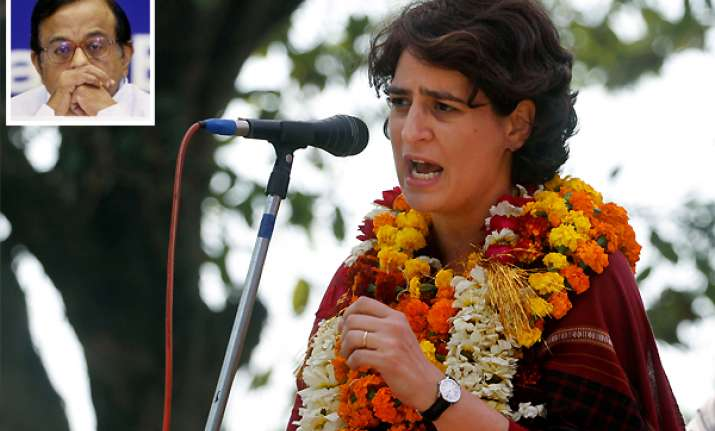 priyanka supports chidambaram opposition continues to