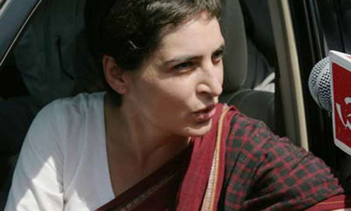 priyanka takes over poll campaign in family strongholds