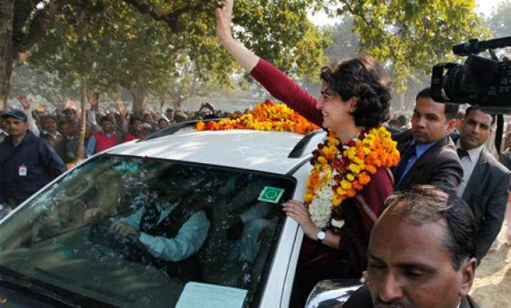 priyanka takes her poll campaign outside amethi rae bareli