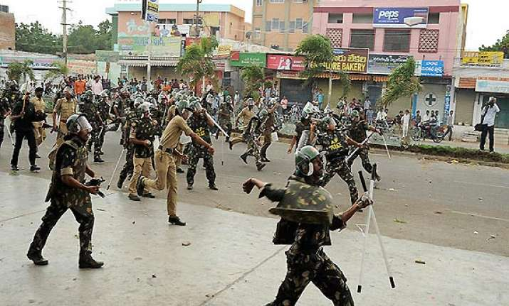 pro unified andhra staff hold rally amid attack by